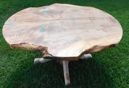 Custom Made Roundish Live-Edge Dining Table