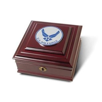 Custom Made Air Force Medallion Desktop Box