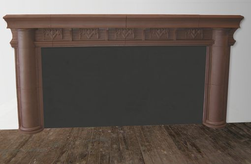 Custom Made Terra Cotta Extra Wide Mantel