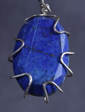 Custom Made Sterling Silver Wrapped Lapis Lazuli
