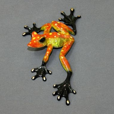"Custom Made Gorgeous Color ""Slider"" Bronze Frog Statue Figurine Amphibian Limited Edition Signed Numbered"