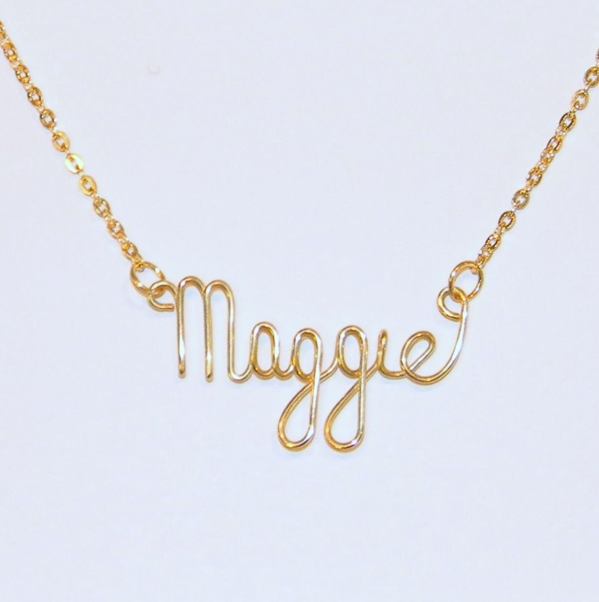 handmade 24k heavy gold plated wire personalized name