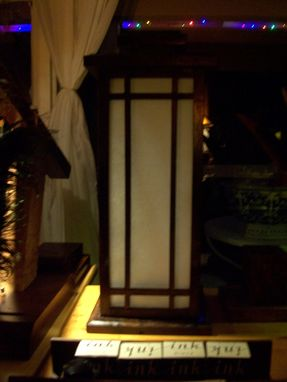 Custom Made Japanese Style Candle Lantern ( Claro Walnut)