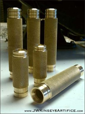 Custom Made Brass Foot Pegs For A Harley Motorcycle