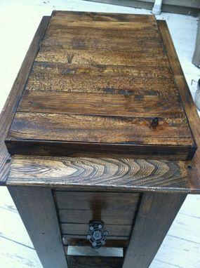 Custom Made Reclaimed Wood Indoor/Outdoor Standing Cooler