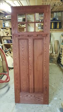 Custom Made Exterior Quarter Sawn Oak Door Unit