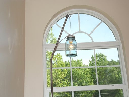 Custom Made Hanging Mason Jar Lamp
