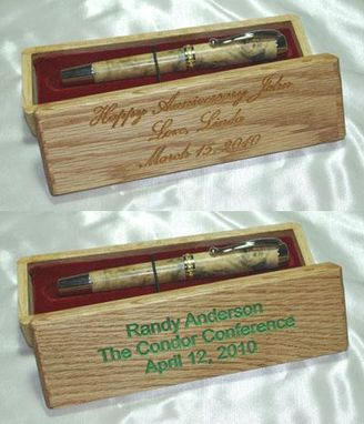 Custom Made Pen Box Color Filled Engraving