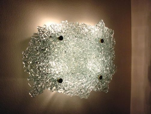 Custom Made Quartz Crystal Glass Wall Sconce