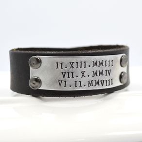 for name bracelet mens pin men personalized engraved man leather