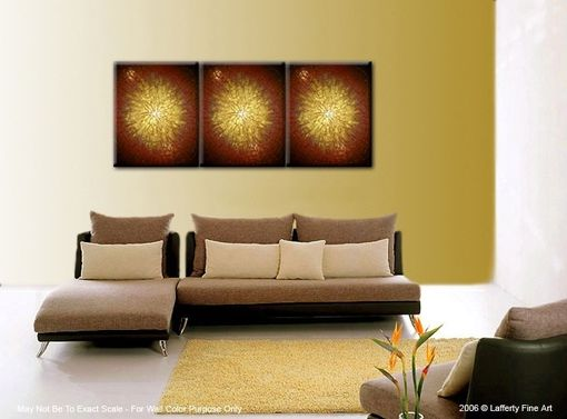 Custom Made Original Palette Knife Painting, Textured Abstract Gold Metallic Art, Painting By Lafferty - 36 X 72