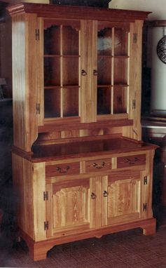 Custom Made Heart Pine China Cupboard