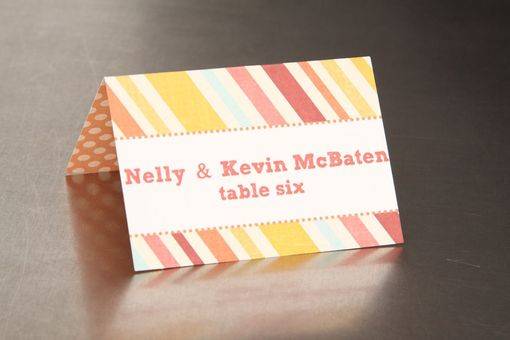 Custom Made Wedding Place Cards - Double Pattern - Escort Cards Favor Tags Custom Designed