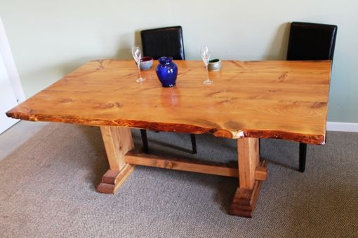 Custom Made Stunning Living Edge Pedestal Table
