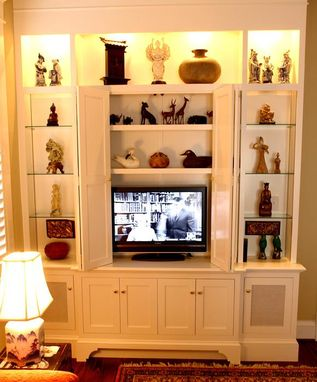 Custom Made Entertainment Center Built-In