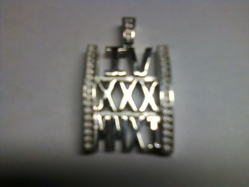 Custom Made A Roman Numerals Anniversary  Necklace And Pendant