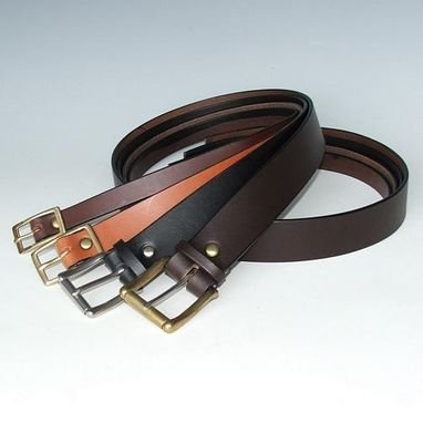 Custom Made English Bridle Belts Leather