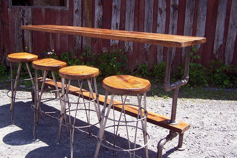 100 industrial bar height table designs that make metal tab