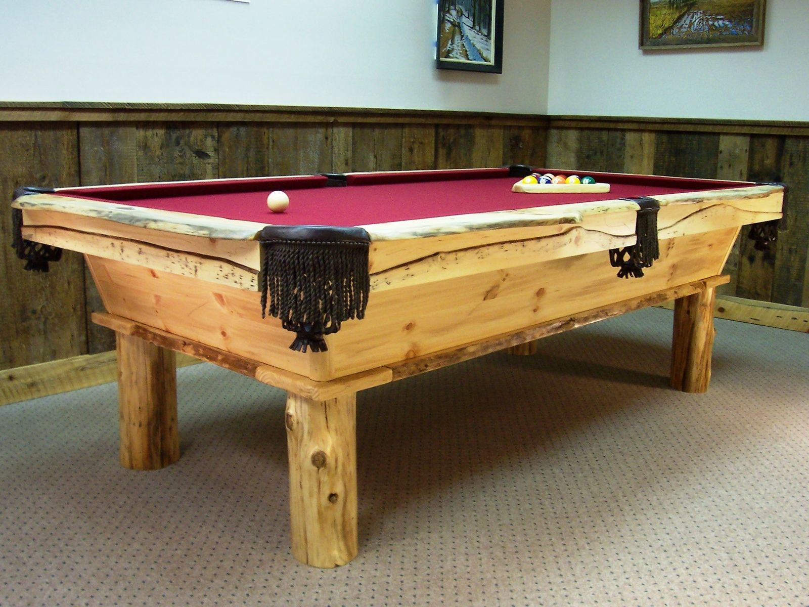 Hand Made Rustic Pool Table By Barons Billiards CustomMadecom - Handmade pool table