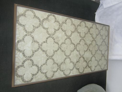 Custom Made Iron Mosaic And Glass Table