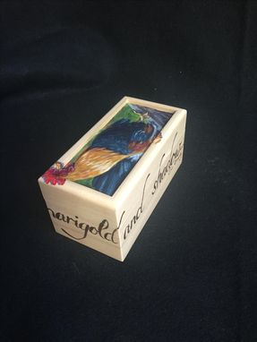 Custom Made Rooster Hand Painted Small Box