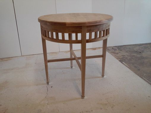 Custom Made French Walnut Accent Table