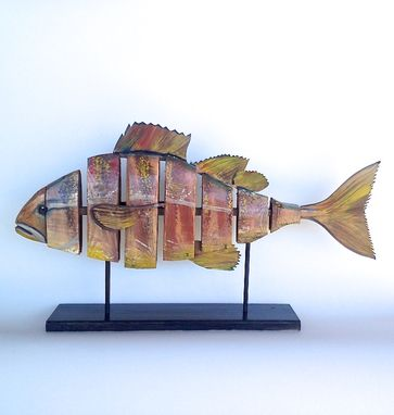 Custom Made Bent Wood, Hand Painted Fish Sculptures