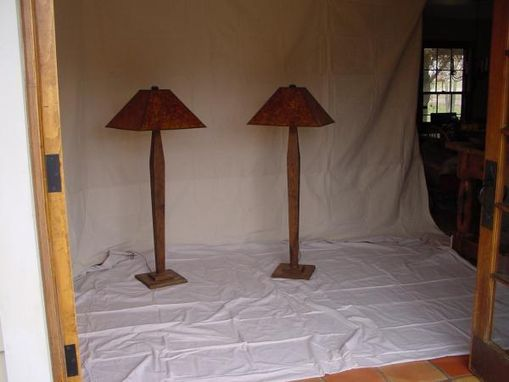 Custom Made Oak Craftsman Floor Lamp