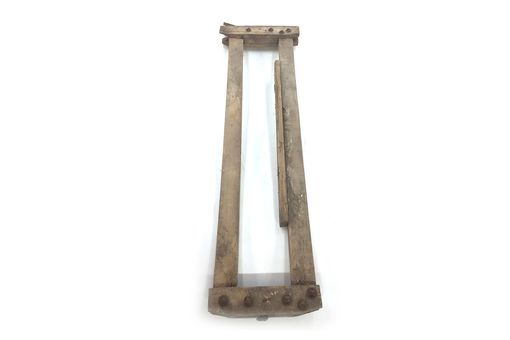 Custom Made Antique Wooden Cow Stanchion - Storiedboards - #B17016