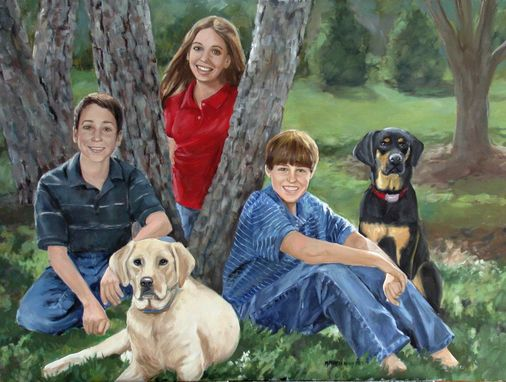 Custom Made Realistic Oil Portraits Of People With Animals