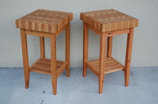 Custom Made Butcher Block Tables Made From Reclaimed White Oak