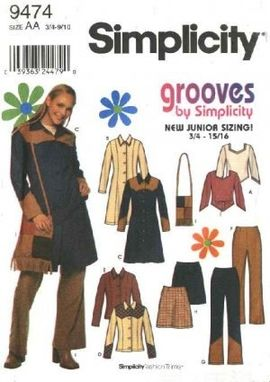 Custom Made Simplicity Sewing Pattern 9474 Junior Size 11/12-15/16