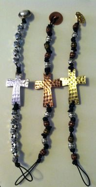 Custom Made Hammered Sideways Cross Bracelet