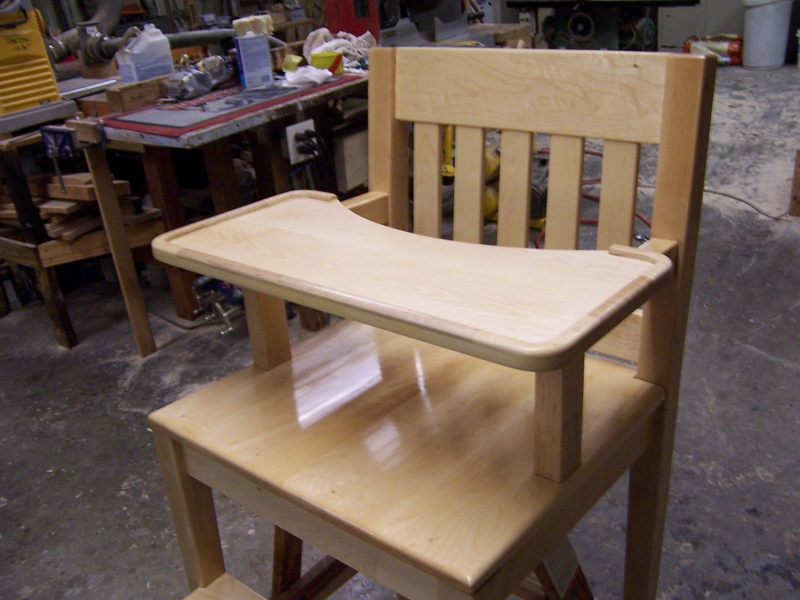 Custom Made High Chair by The Wooden Knot