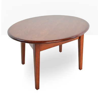 Fantastic Buy A Custom Modern Cherry Coffee Table Tapered Legs Oval Pabps2019 Chair Design Images Pabps2019Com