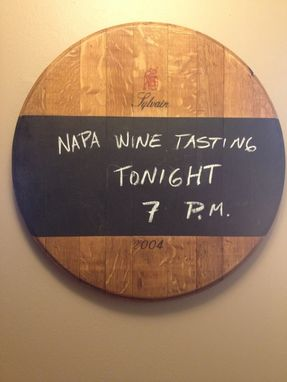 Custom Made Wine Barrel Chalkboard
