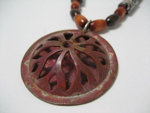 Custom Made Copper Sunflower Necklace