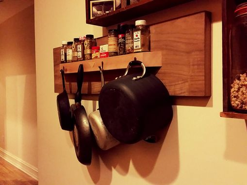Custom Made Spice And Pan Wall Unit