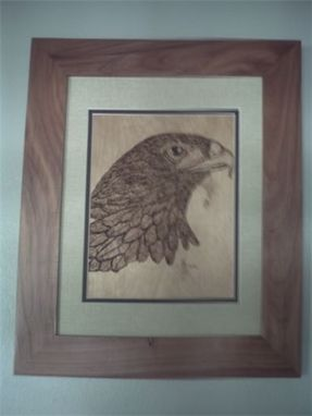 Custom Made Pyrographic Framed Eagle