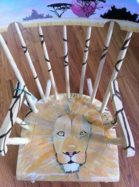 Custom Made Lion With Acacia Trees