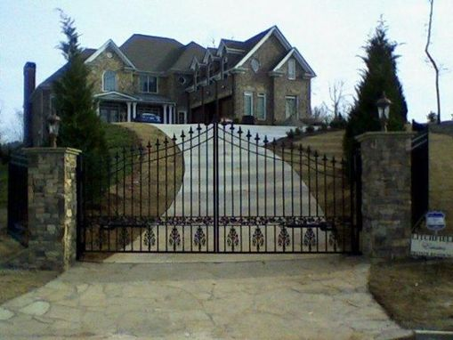 Custom Made Wrought Iron Entry Gate