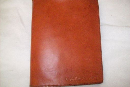Custom Made Custom Leather Binder/Portfolio