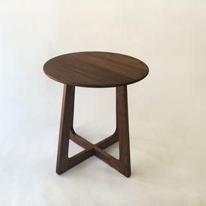 Buy a custom made mid century modern style natural live for Mid century bistro table