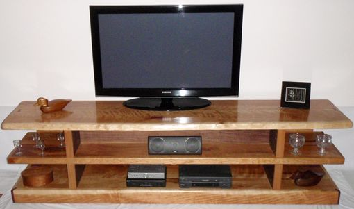 Custom Made Entertainment Center In Cherry Slab