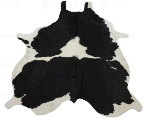 "Custom Made Black And White Premium Cowhide Rug #1118 | 7'-2"" X 5'-11"""