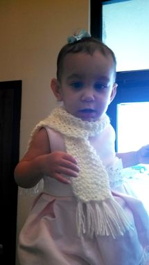 Custom Made Baby And Toddler Girls' Cream Knitted Scarf
