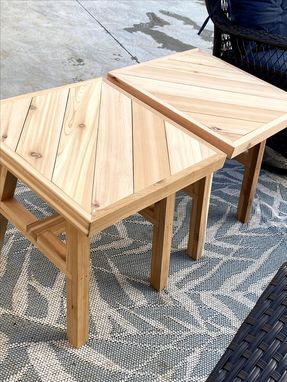 Custom Made Cedar Coffee Table And Two End Tables(Cedar Tables Only)