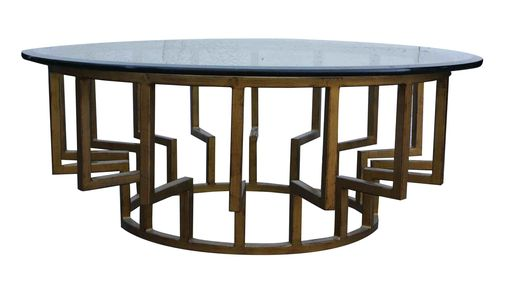 Custom Made New York Round Modern Coffee Table
