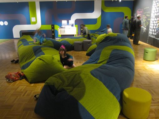 "Custom Made Morelab's ""Groove Grove"" Giant Beanbags At Oakland Museum Of California"
