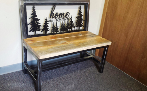 Custom Made Rustic Custom Entry Bench